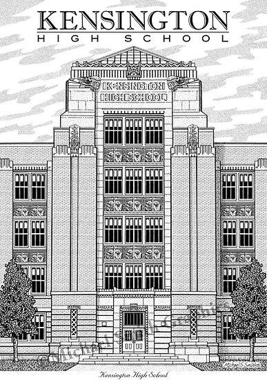 Kensington High School art print by Michael Smith