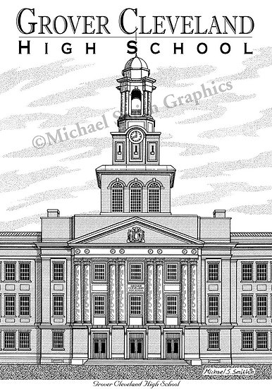 Grover Cleveland High School art print by Michael Smith
