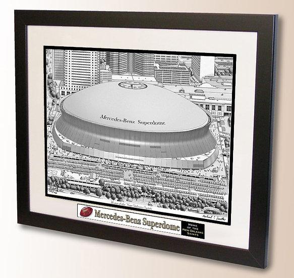 Mercedes-Benz Superdome wall art