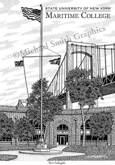 SUNY Maritime College art print by Michael Smith