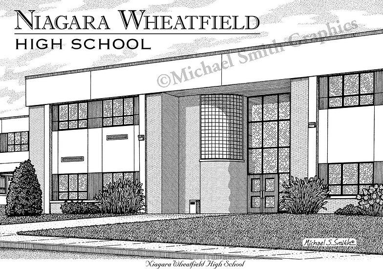 Niagara Wheatfield High School art print by Michael Smith