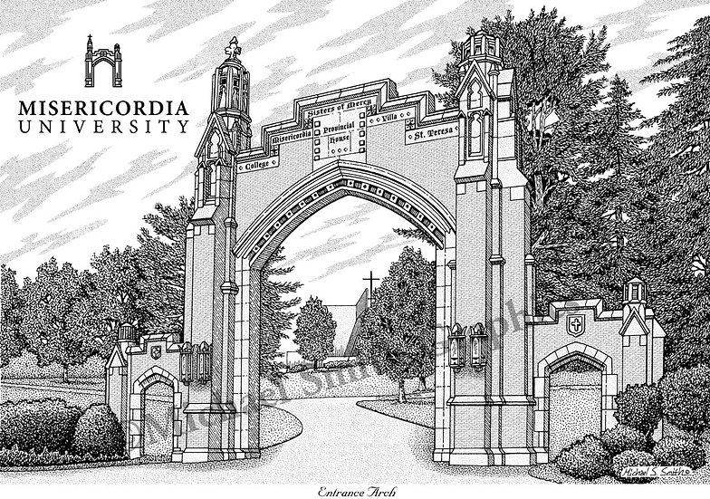 Misericordia University art print by Michael Smith