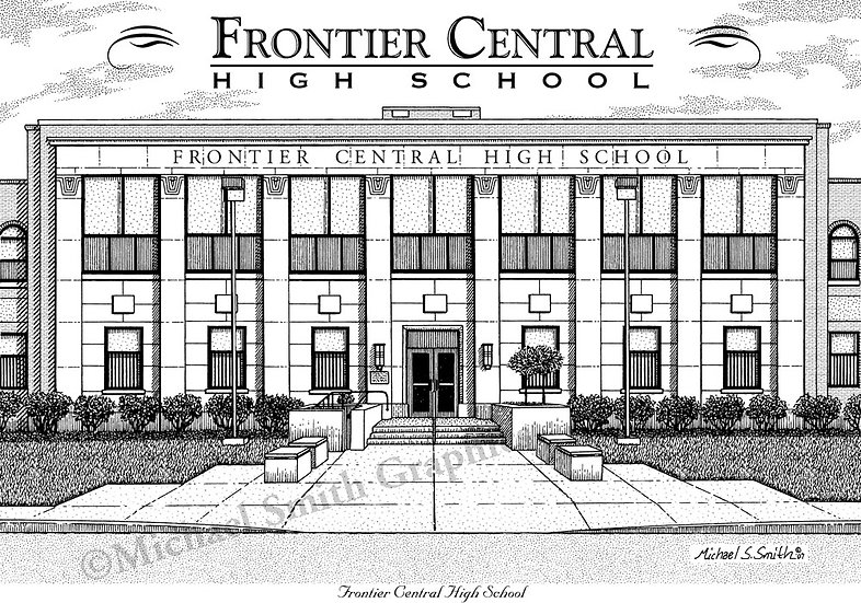 Frontier High School art print by Michael Smith
