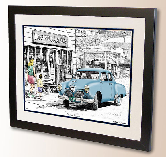 Antique store and classic Studebaker art print by Michael Smith