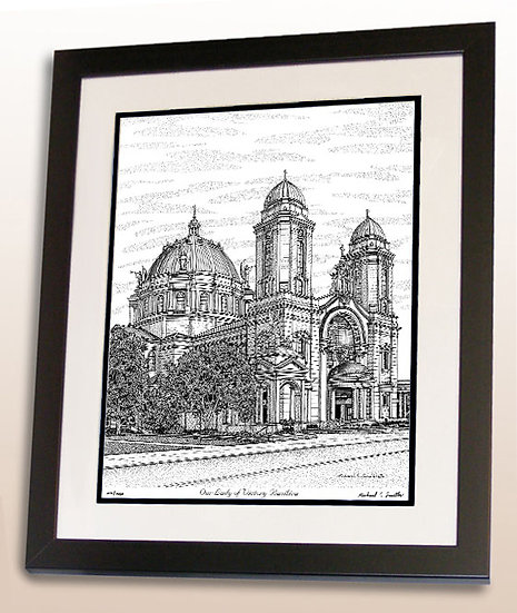 Our Lady of Victory Basilica in Buffalo, NY art print by Michael Smith