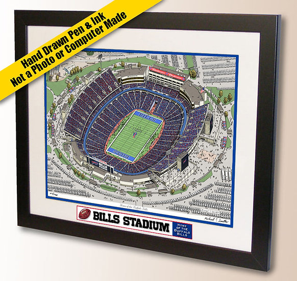 Bills Stadium wall art print