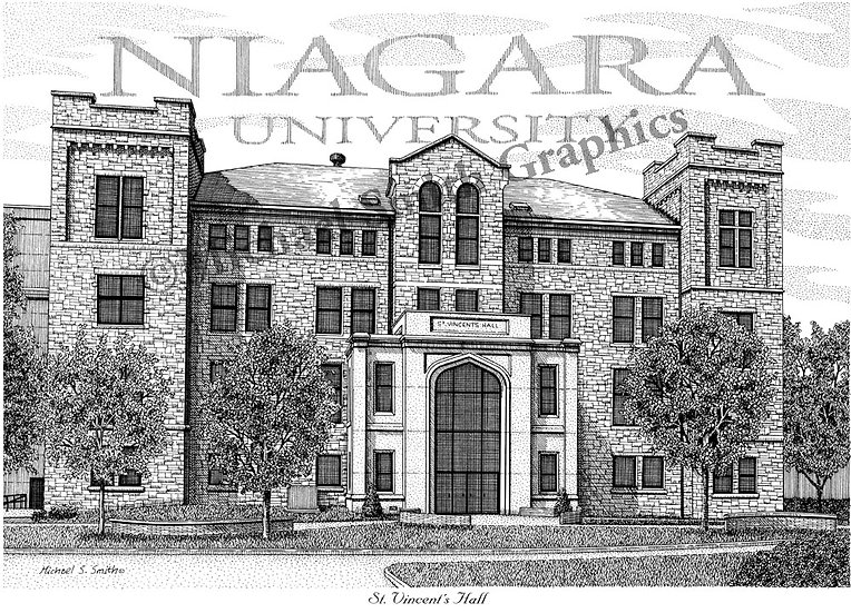 Niagara University St Vincent Hall art print by Michael Smith