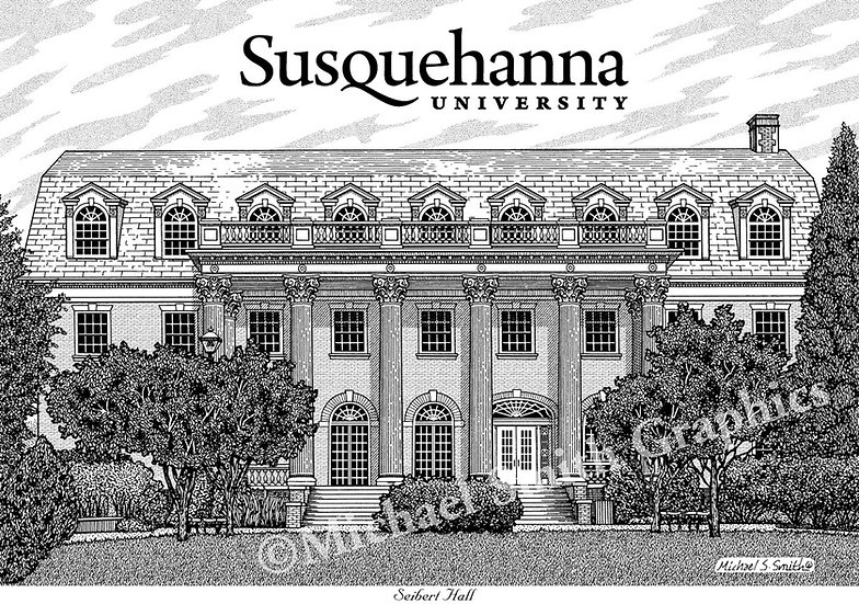 Susquehanna University art print by Michael Smith