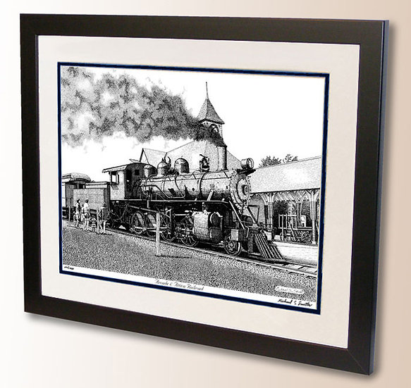Arcade and Attica Railroad art print by Michael Smith