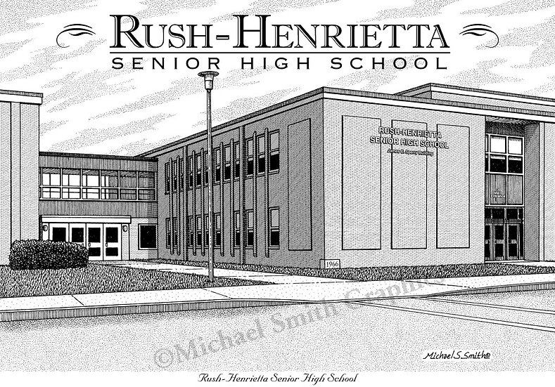 Rush Henrietta High School art print by Michael Smith