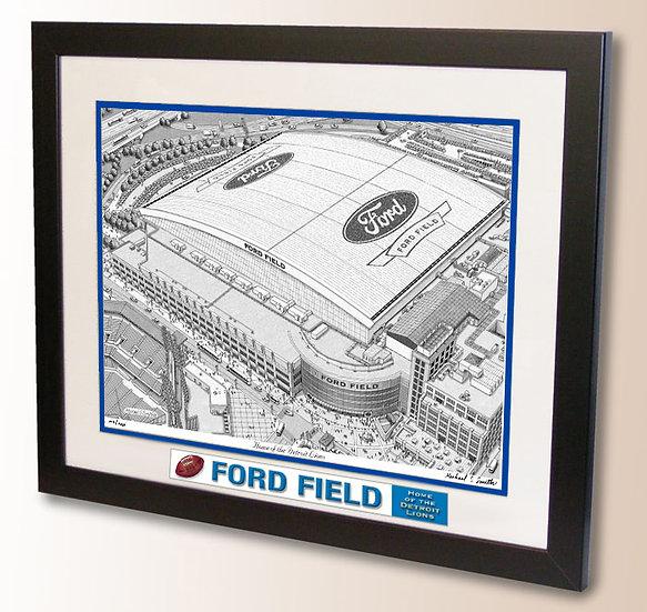 Ford Field wall art