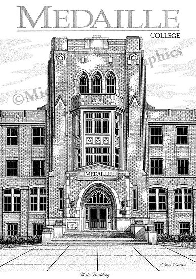 Medaille College art print by Michael Smith