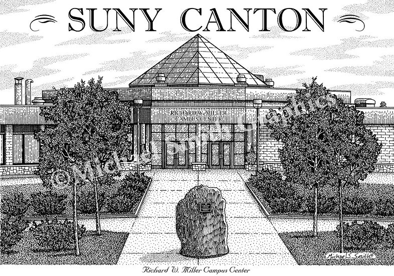 SUNY Canton art print by Michael Smith