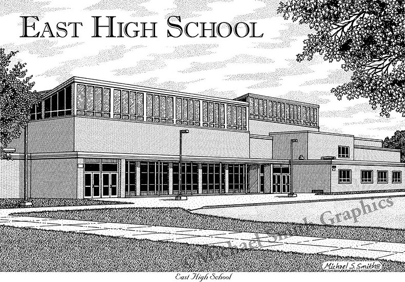 East High School art print by Michael Smith