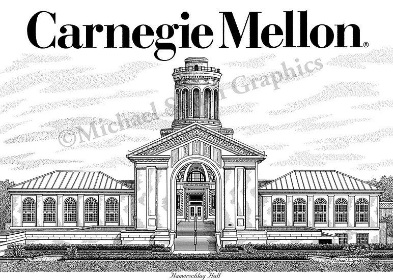 Carnegie Mellon University art print by Michael Smith