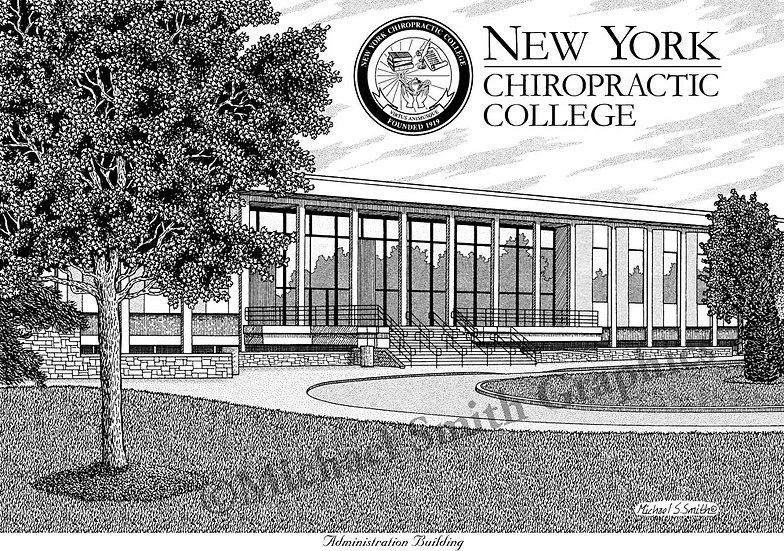 New York Chiropractic College art print by Michael Smith