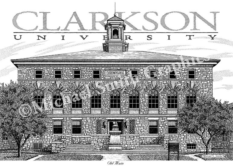 Clarkson University Old Main art print by Michael Smith