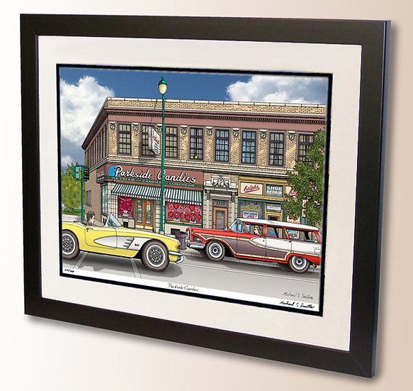 Parkside Candies in Buffalo NY art print by Michael Smith