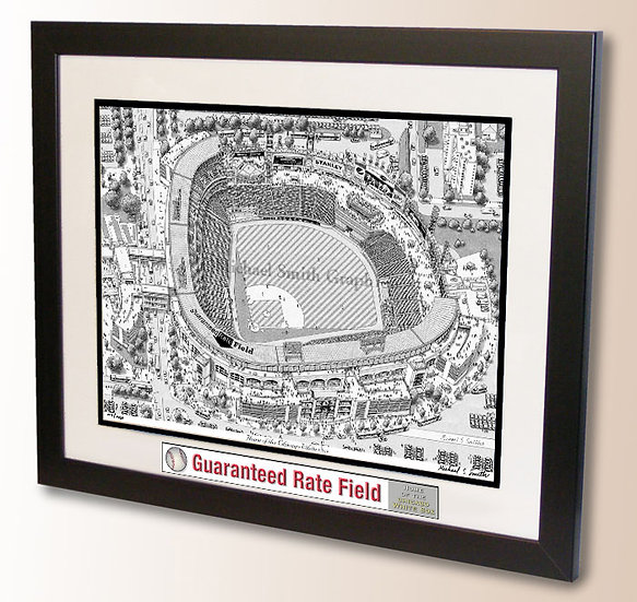 Guaranteed Rate Field wall art