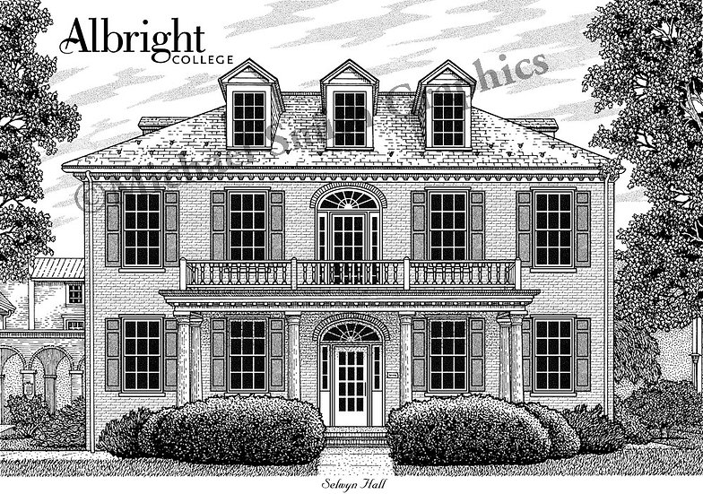 Albright College art print by Michael Smith