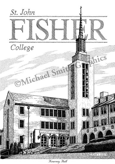 St. John Fisher College art print by Michael Smith