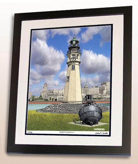 Buffalo Lighthouse art print by Michael Smith
