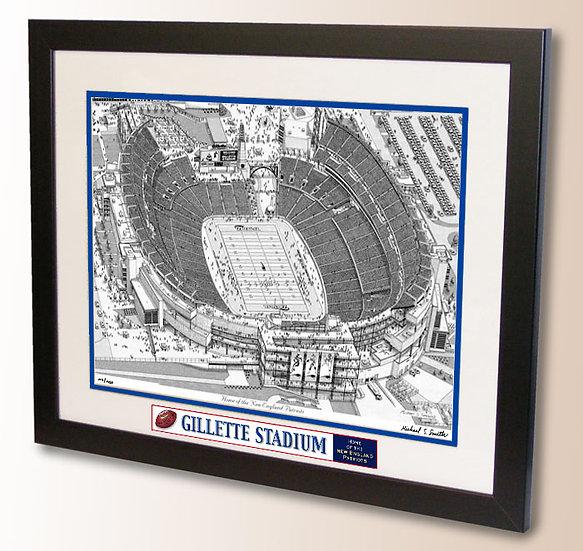 Gillette Stadium wall art