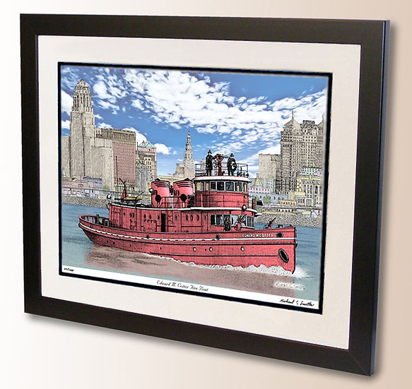 Edward M. Cotter Fire Boat art print by Michael Smith