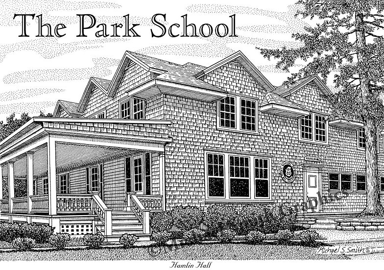 The Park School art print by Michael Smith