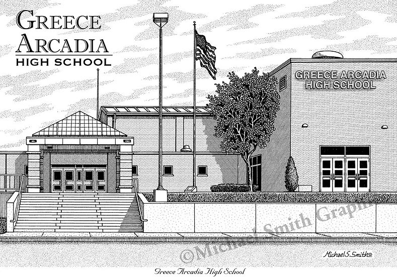 Greece Arcadia High School art print by Michael Smith