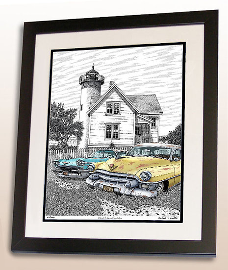 West Chop Lighthouse art print by Michael Smith