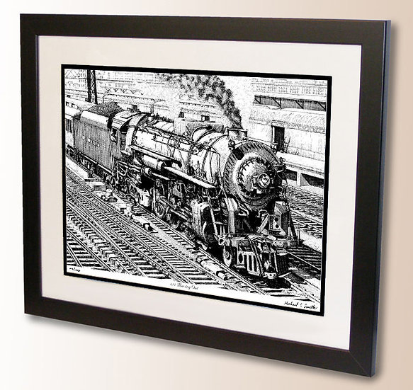 Railroad art print by Michael Smith