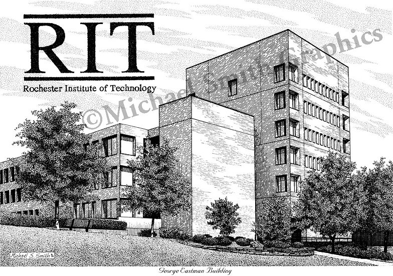 Rochester Institute of Technology RIT art print by Michael Smith