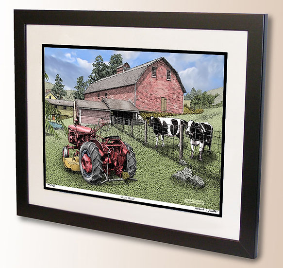 Barn Yard art print by Michael Smith