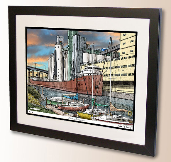 Kinsman Independent in Buffalo NY art print by Michael Smith