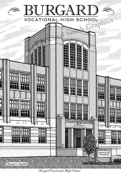 Burgard High School art print by Michael Smith