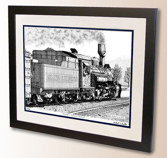 Durango and Silverton Train art print by Michael Smith