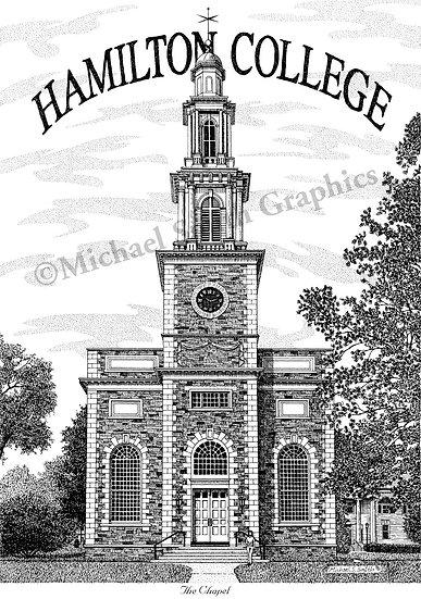 Hamilton College art print by Michael Smith