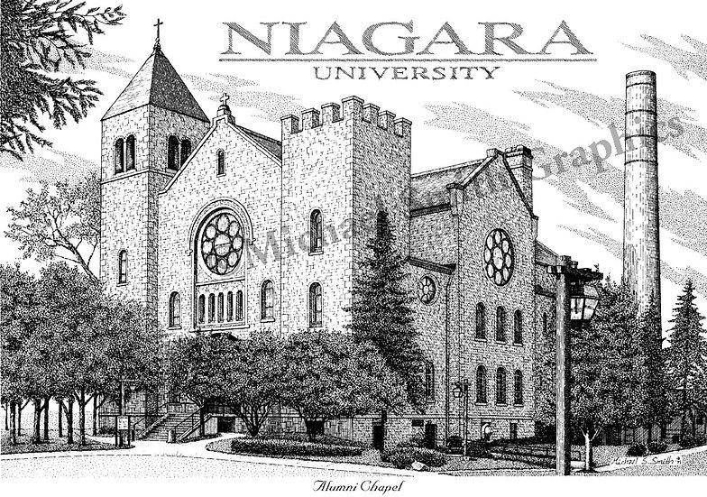 Niagara University Alumni Chapel art print by Michael Smith