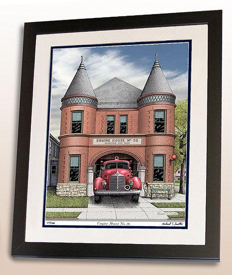 Engine No. 26 in Buffalo NY art print by Michael Smith