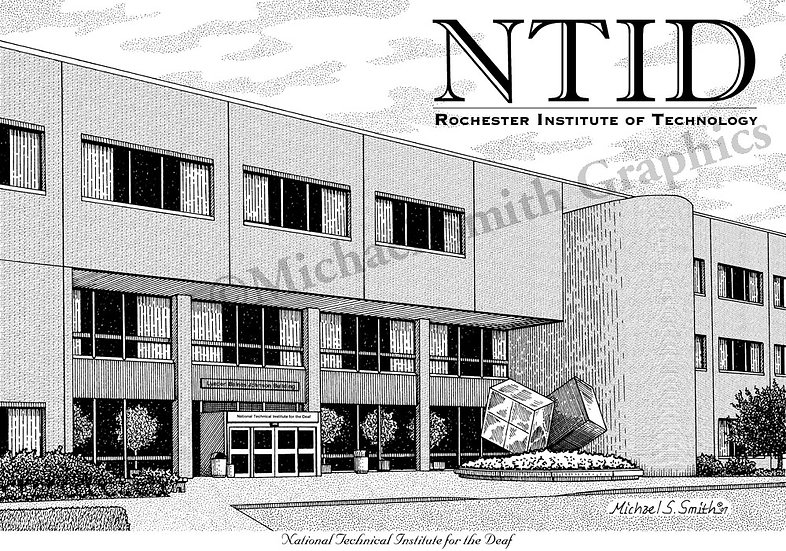 RIT NTID art print by Michael Smith