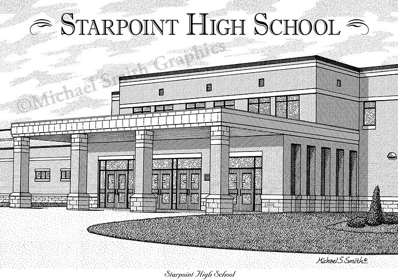 Starpoint High School art print by Michael Smith