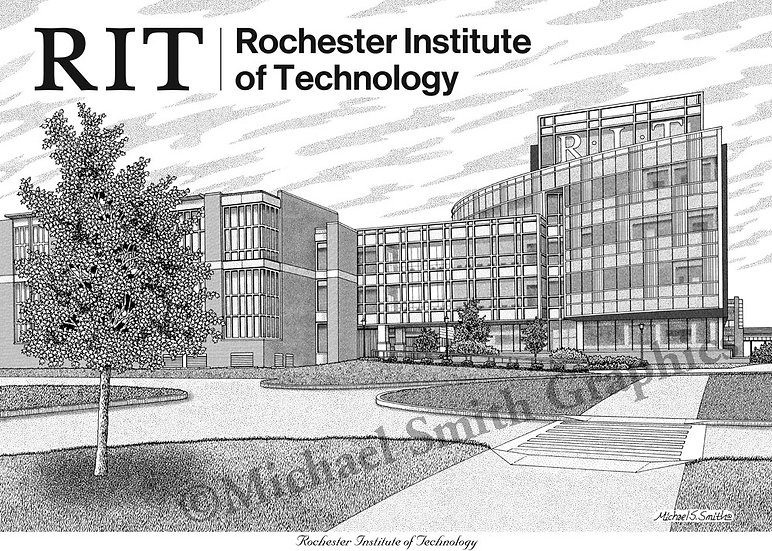 Rochester Institute of Technology art print by Michael Smith