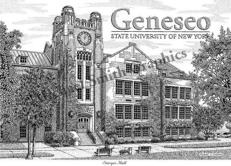 SUNY Geneseo art print by Michael Smith