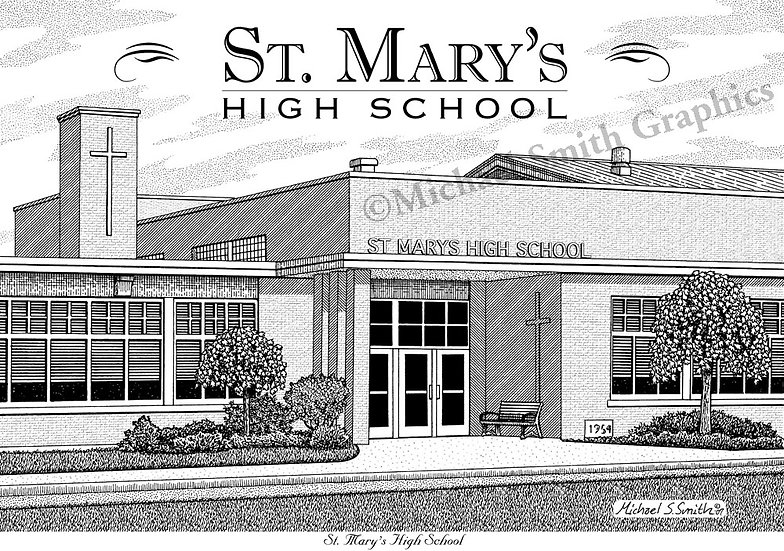 St. Marys High School art print by Michael Smith