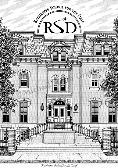 Rochester School for the Deaf (RSD) art print by Michael Smith