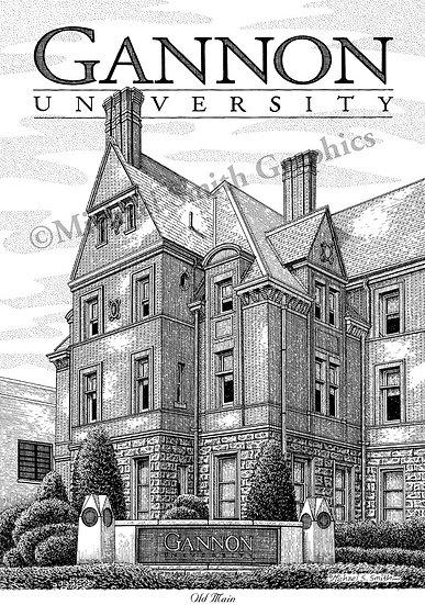 Gannon University art print by Michael Smith