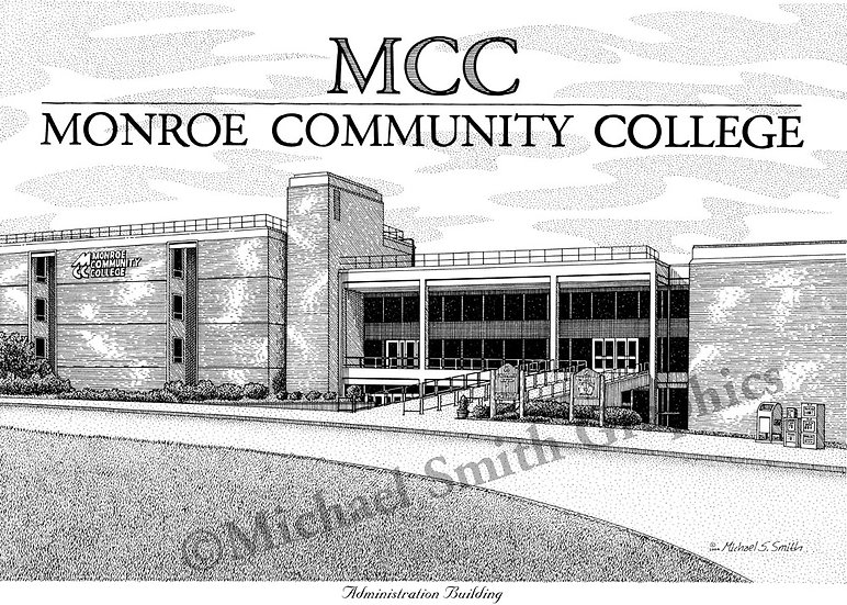 Monroe Community College art print by Michael Smith