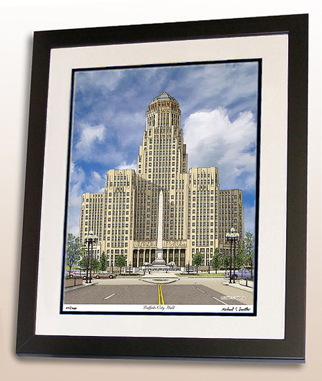 Buffalo City Hall art print by Michael Smith
