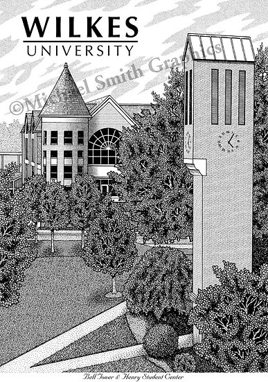 Wilkes University art print by Michael Smith